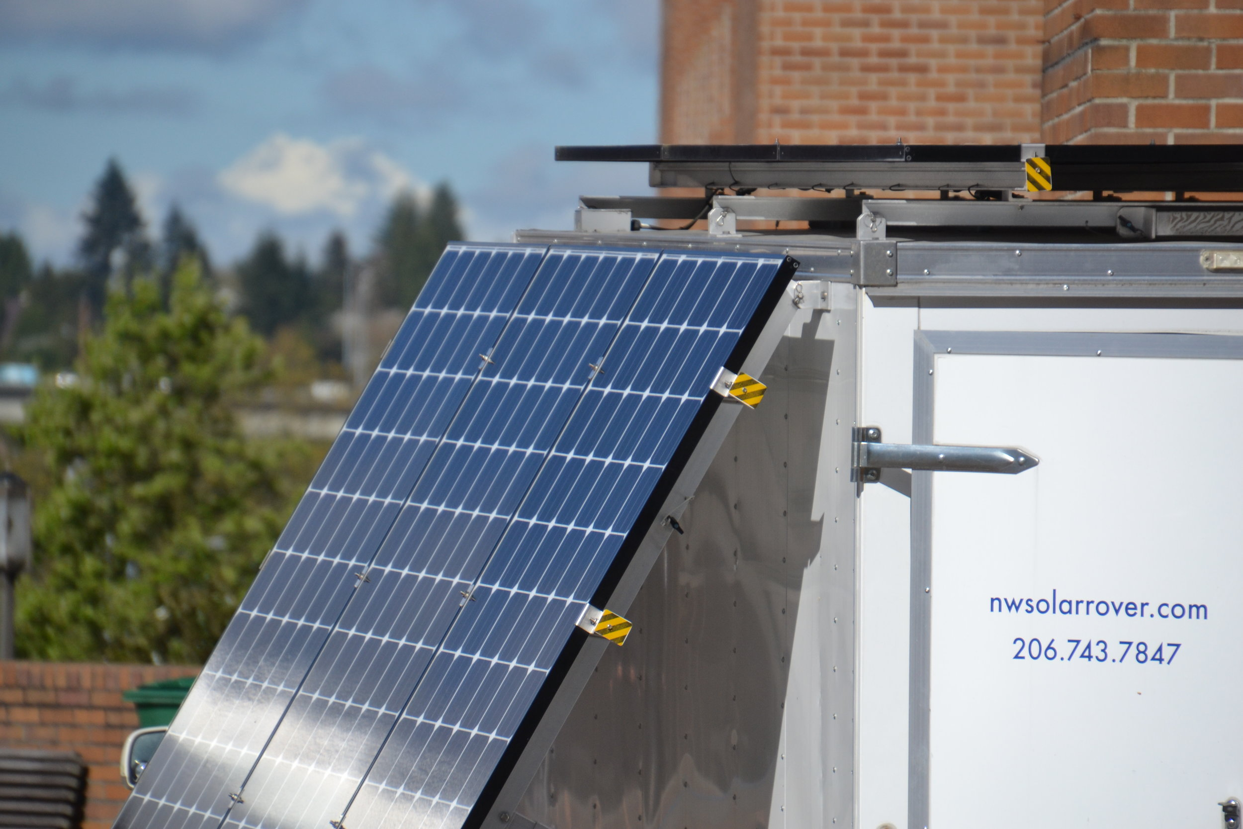 Powering the stage at the University of Washington Earth Day.
