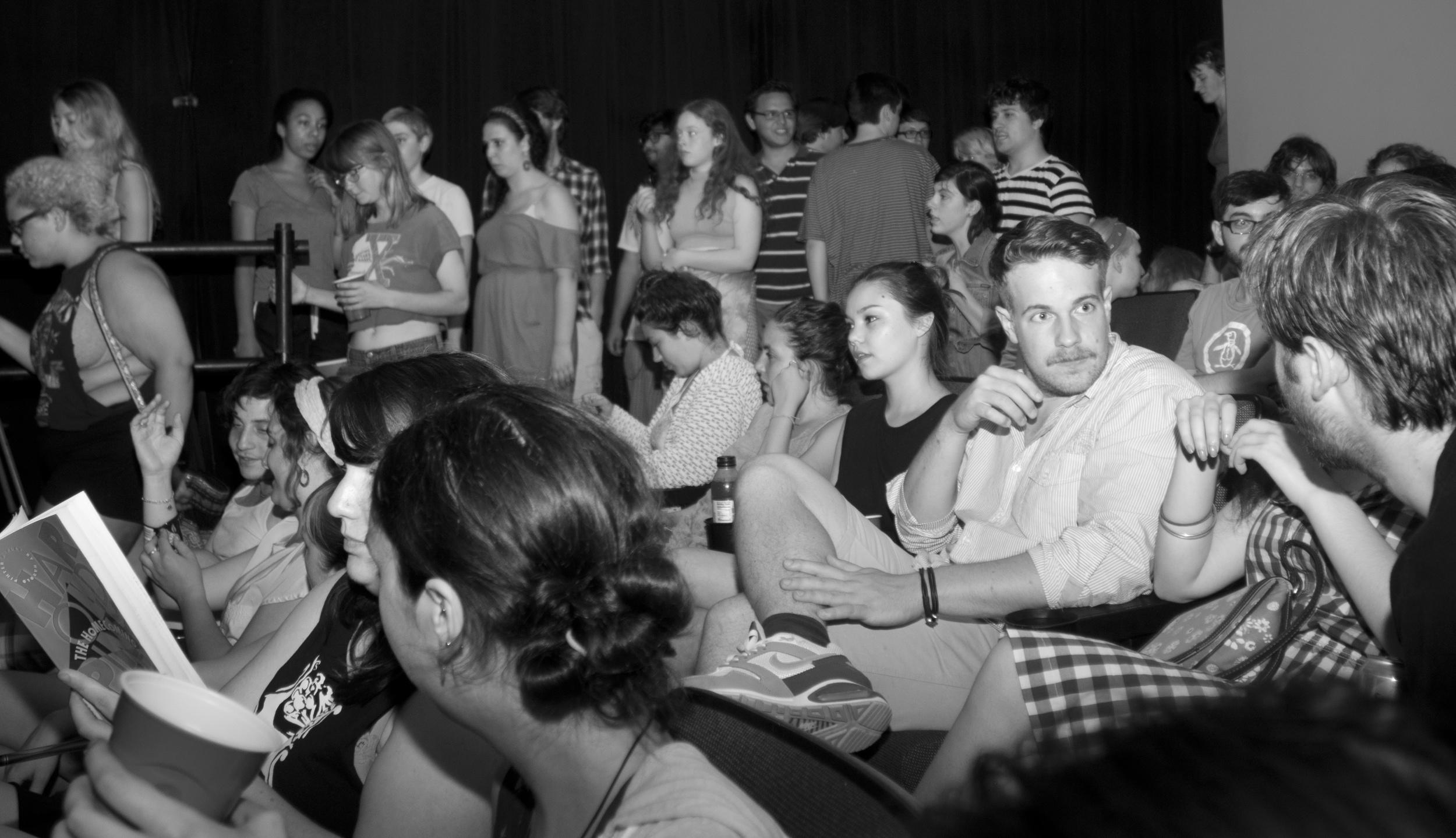 Bennington students enjoy a night at the cinema circa 2012.   Photo by Joshua Alexander Abbott Boucher '12