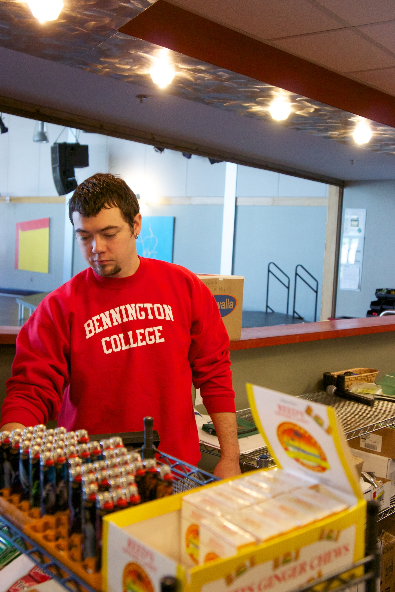 Outgoing College Snack Bar Manager Nick DiSorda. Aramark has refused to comment on whether they will seek a replacement.