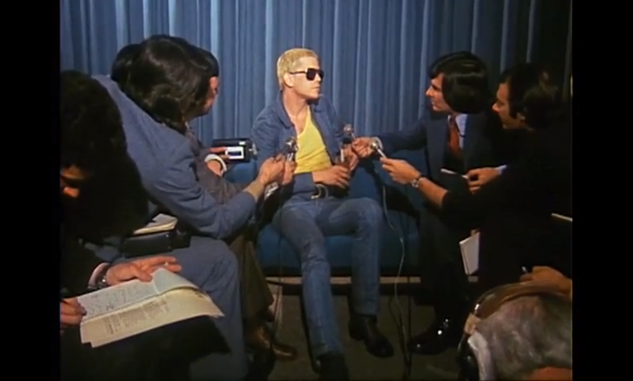 color: screen shot from a film (This segment was first broadcast on August 19, 1974 on GTK (Get To Know), a ten-minute magazine-style program about pop culture that ran on the ABC from 1969 to 1975.)