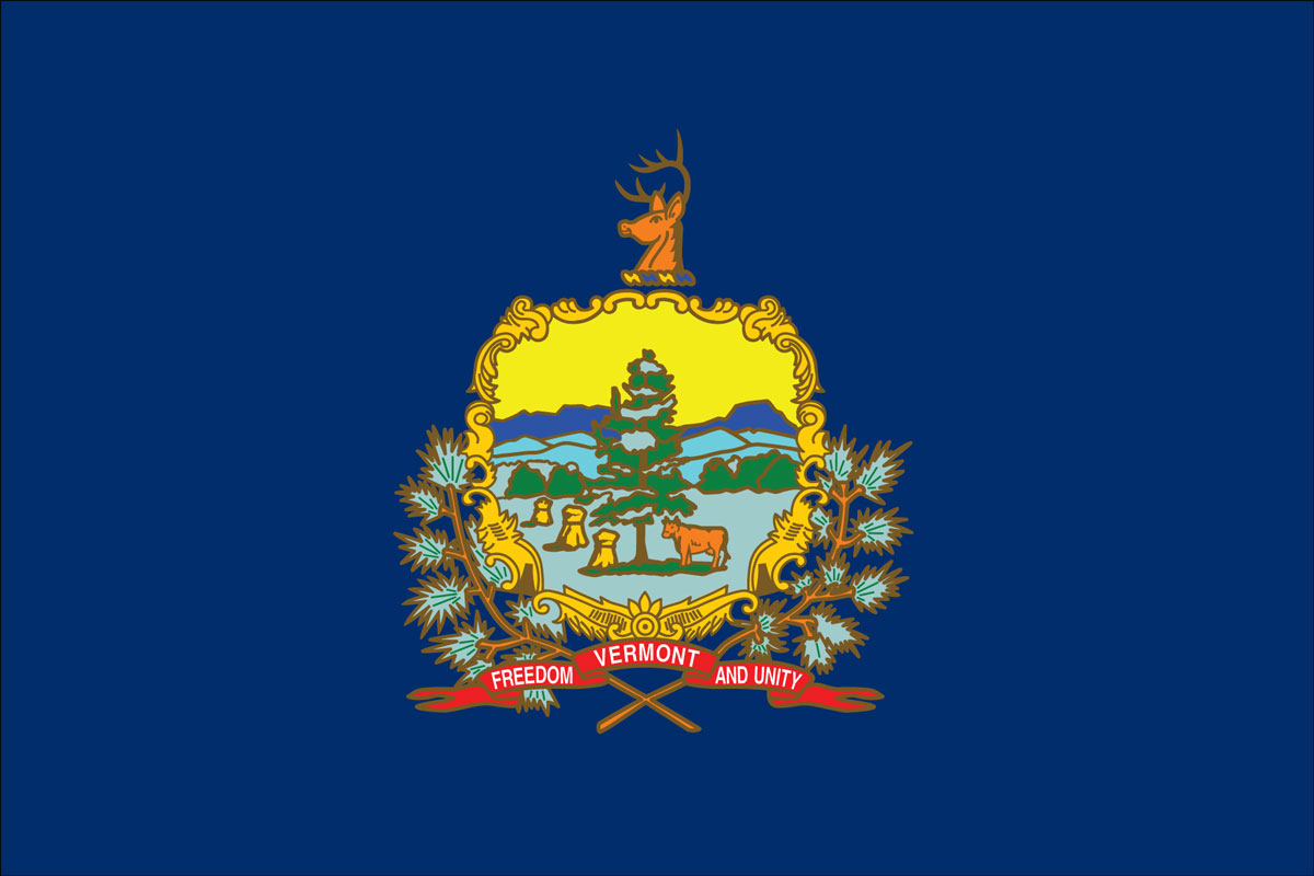 Vermont State Flag, courtesy of Flagnations