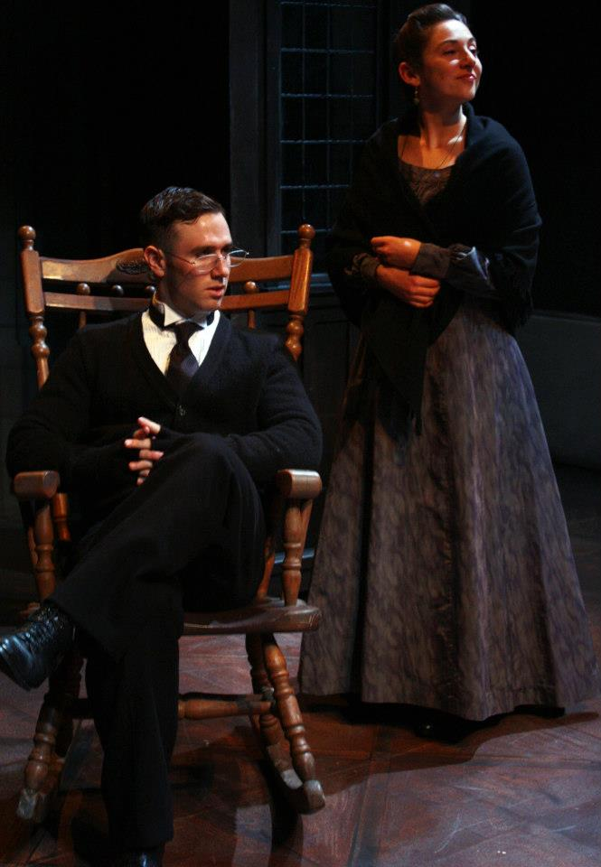 As Gerda in  The Pelican   at The Cutting Ball Theater, appearing with Nicholas Trengove as Fredrick.