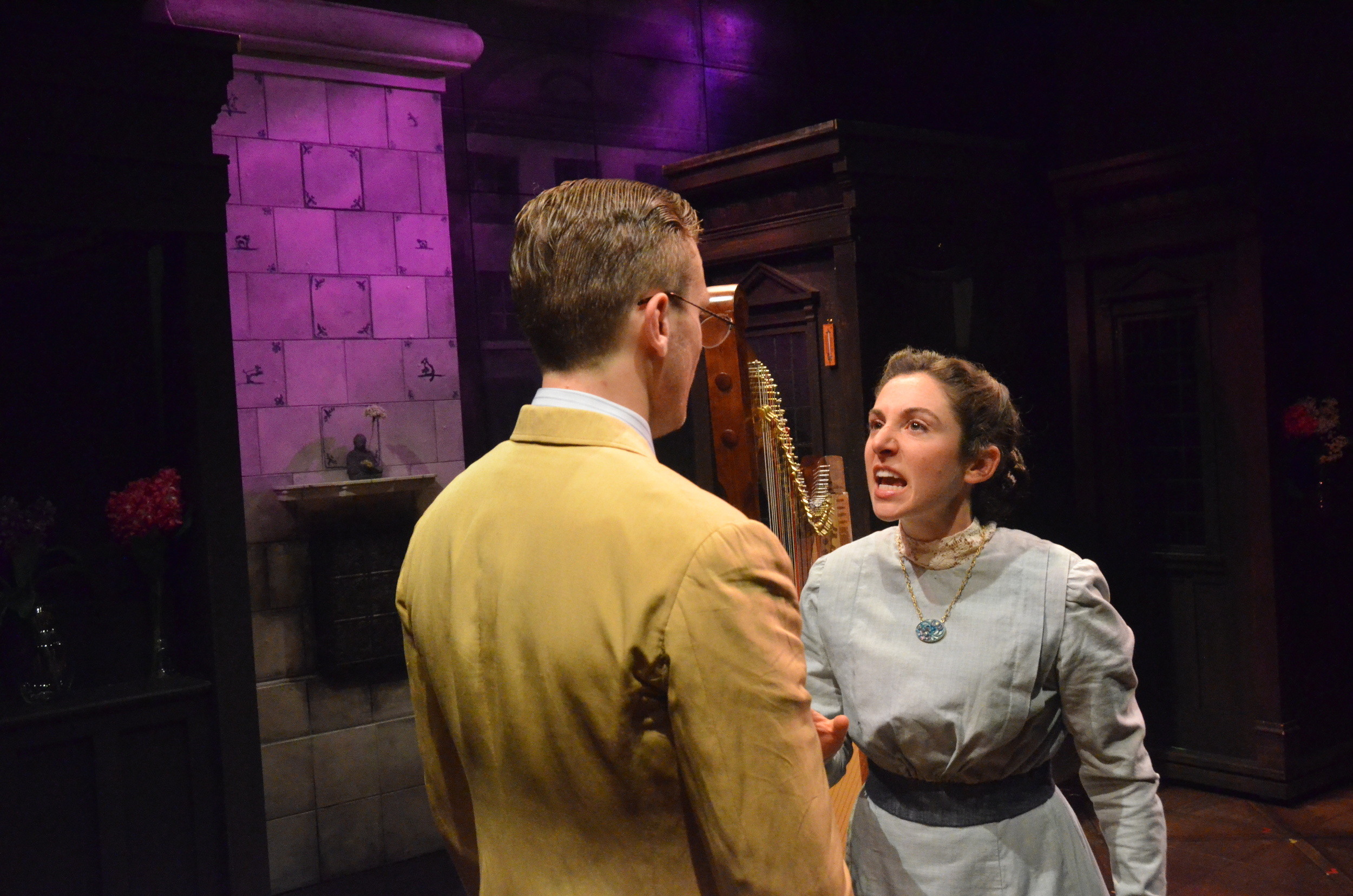 As Adele in Cutting Ball Theater's Ghost Sonata. Appearing with Carl Holvick Thomas.