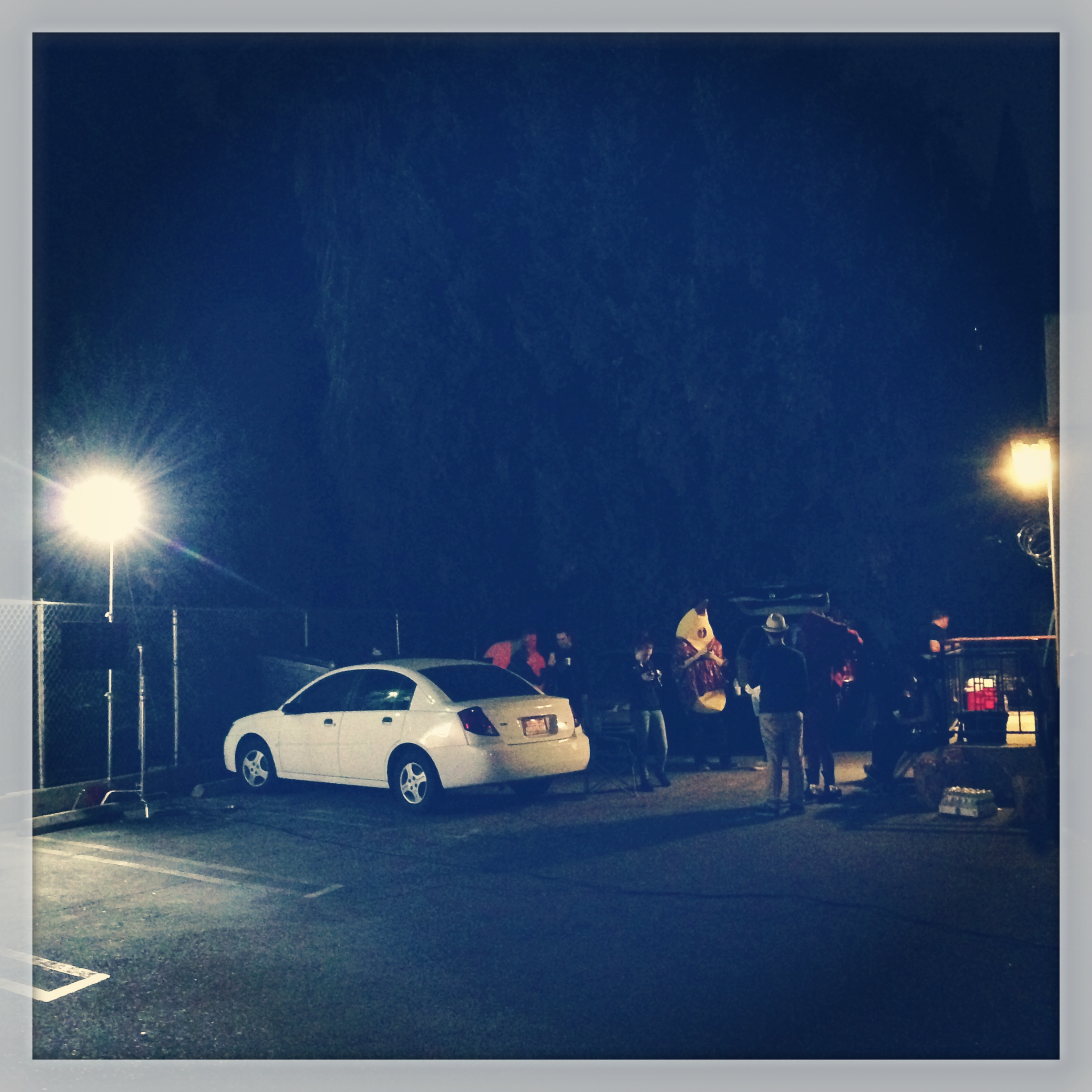 Late nights in the parking lot of the motel