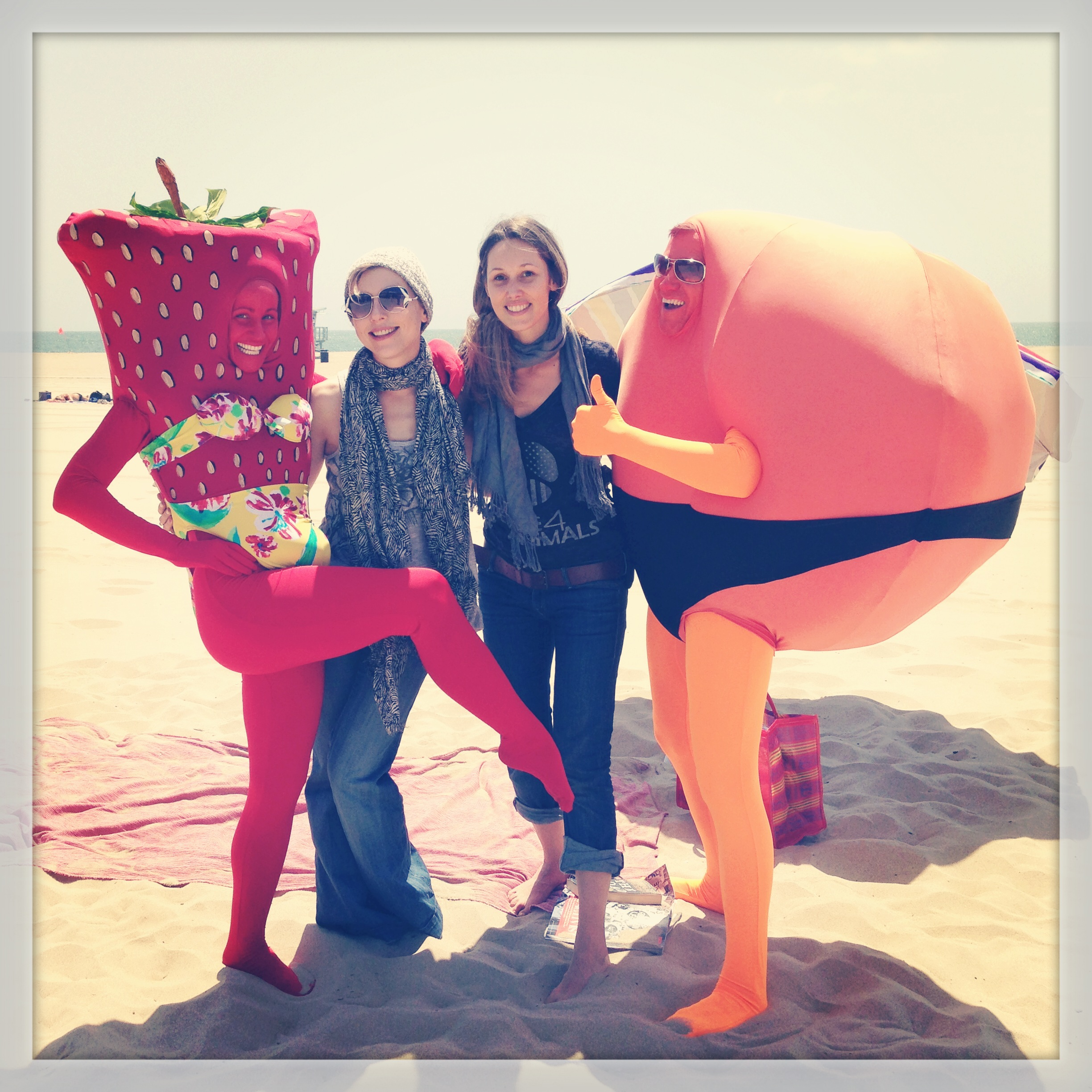 Our amazing DP Kristina M. Schulte-Eversum and Mrs Strawberry ( Katy Davis)  and Mr Orange (  Christopher May) and myself!