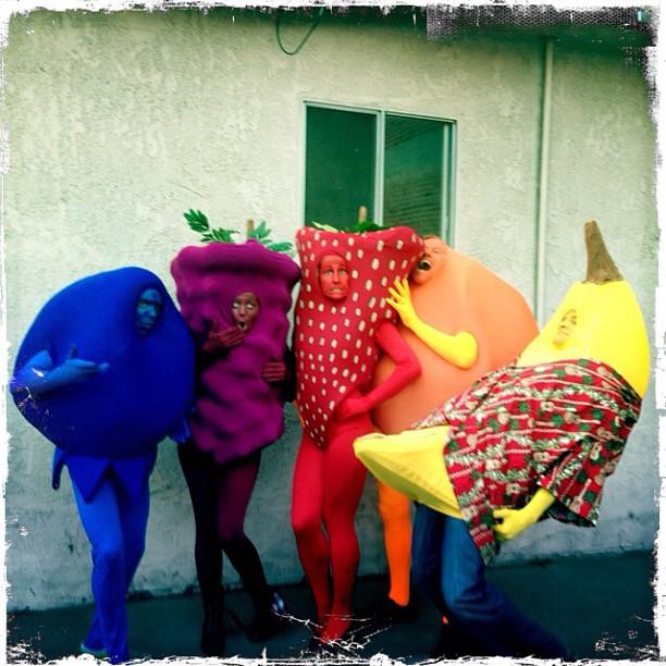 The whole fruit cast - Mr. Blueberry (  Douglas Harvey),    Ms. Raspberry (  Nicole Nelson),  Ms. Strawberry (Katy Davis),  Mr. Orange (  Christopher May),  Mr. Banana (Tom Christensen)
