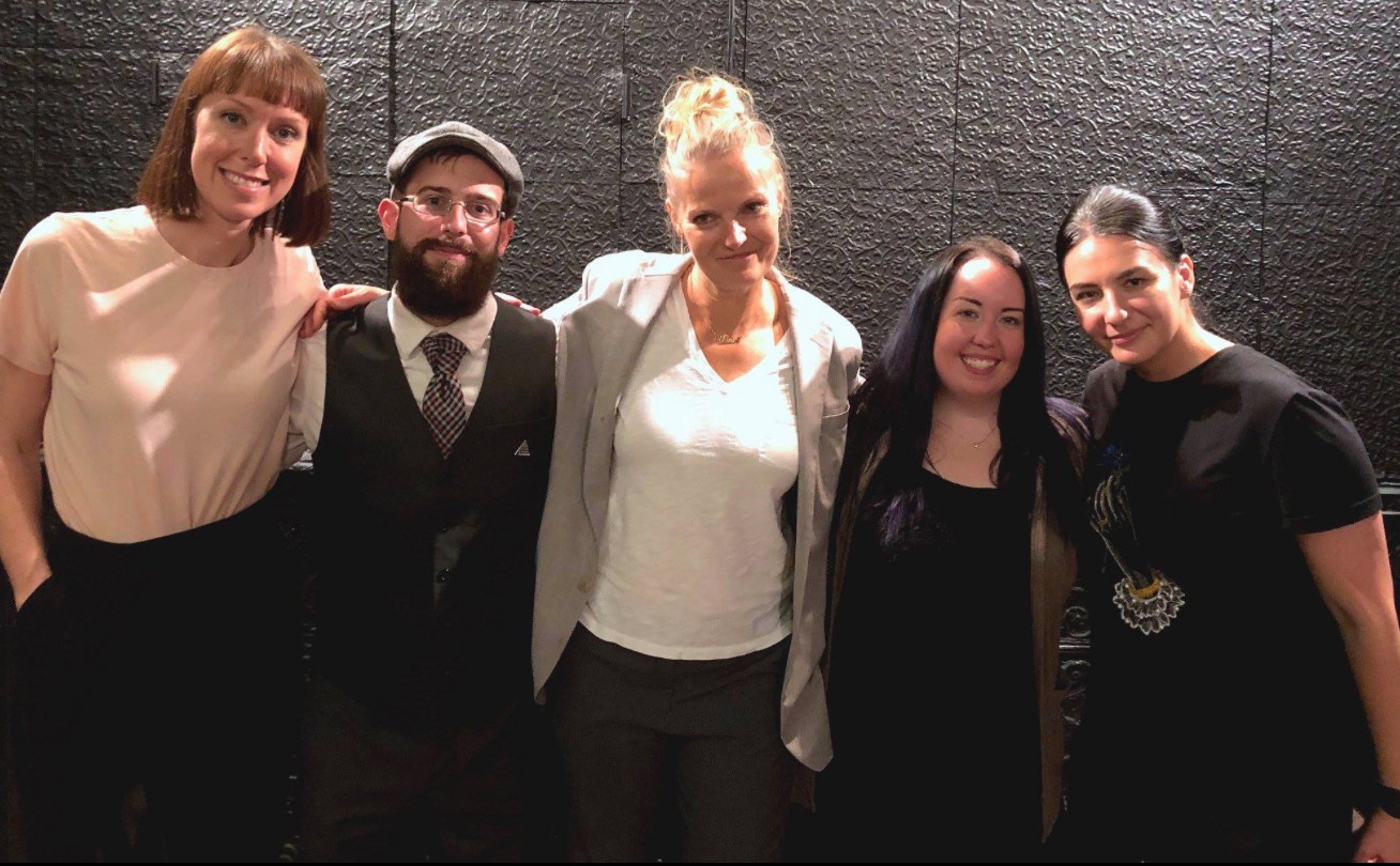 Producer Katie Hyde, David Magnano, Director Elle Kamihira, Jessica Rosenbeck, and Animation Director Yulia Ruditskaya at the Kickstarter Launch Party on September 29, 2018.