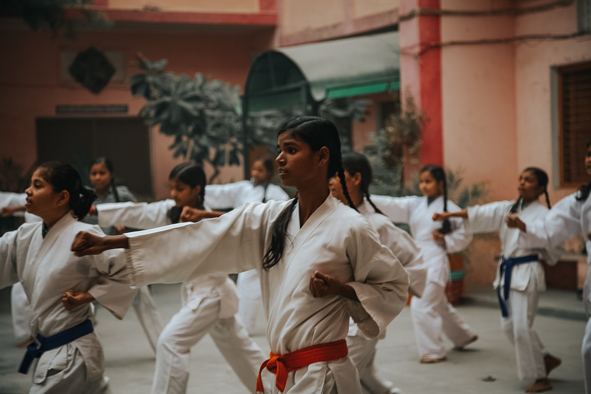 Rani takes karate in hopes to get string because she wants to become an Army Officer.