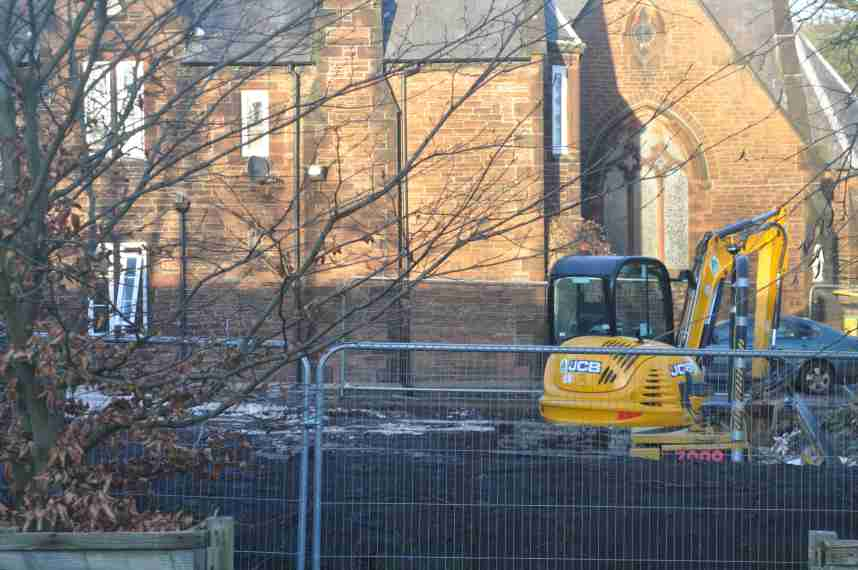 Building work starts on the Haydock Centre, Monday, 7th January 2013.