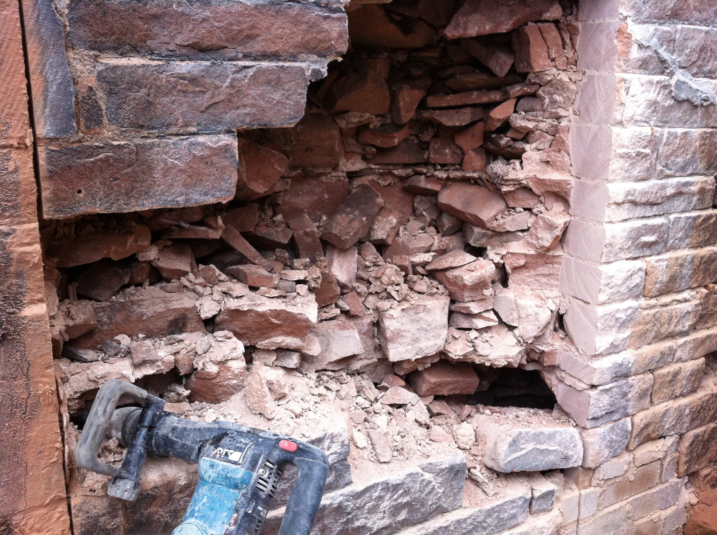 Showing how thick the rectory walls are!