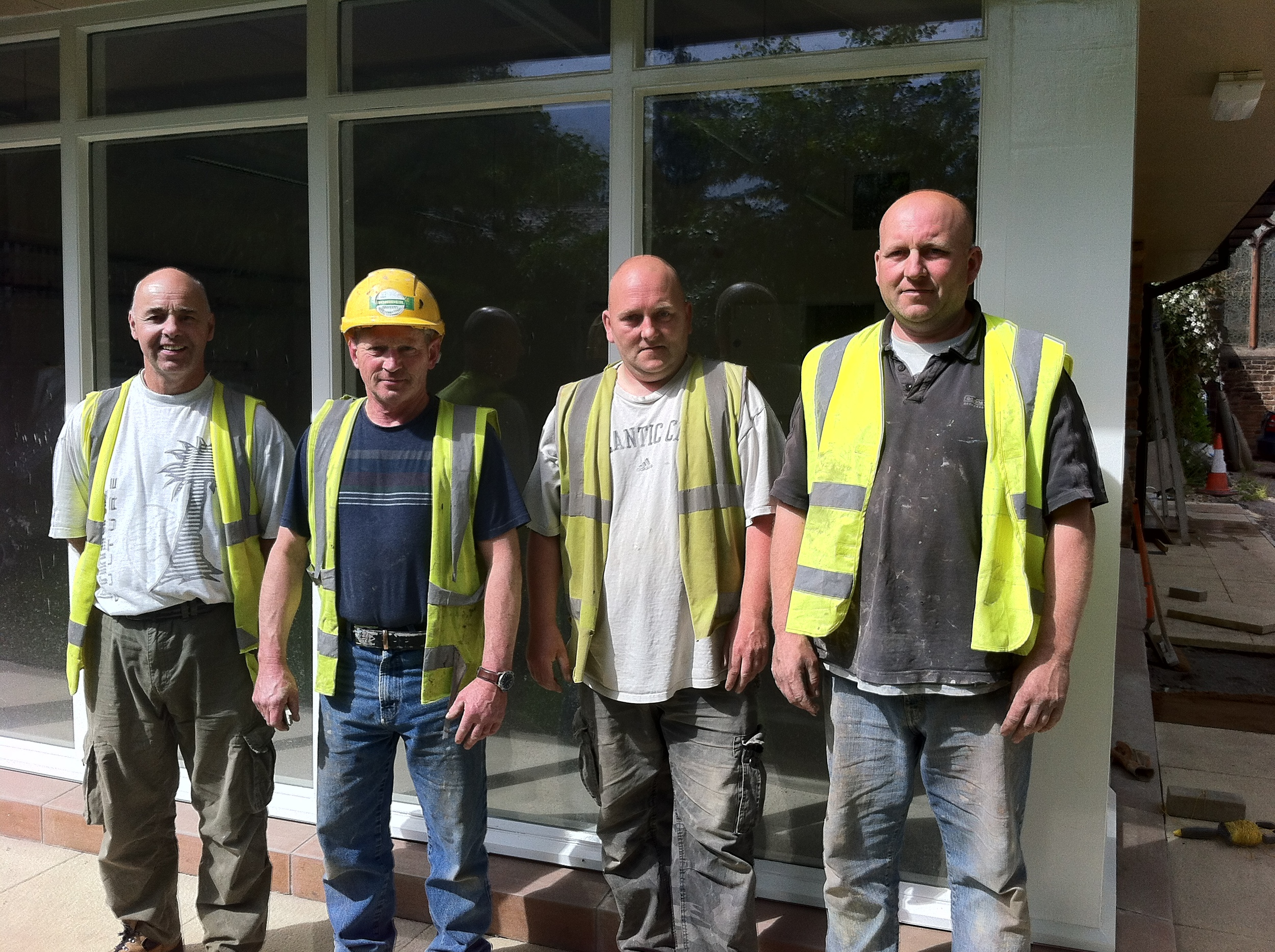 The work gang - our four core workers from Border Construction with us on the site for six months.