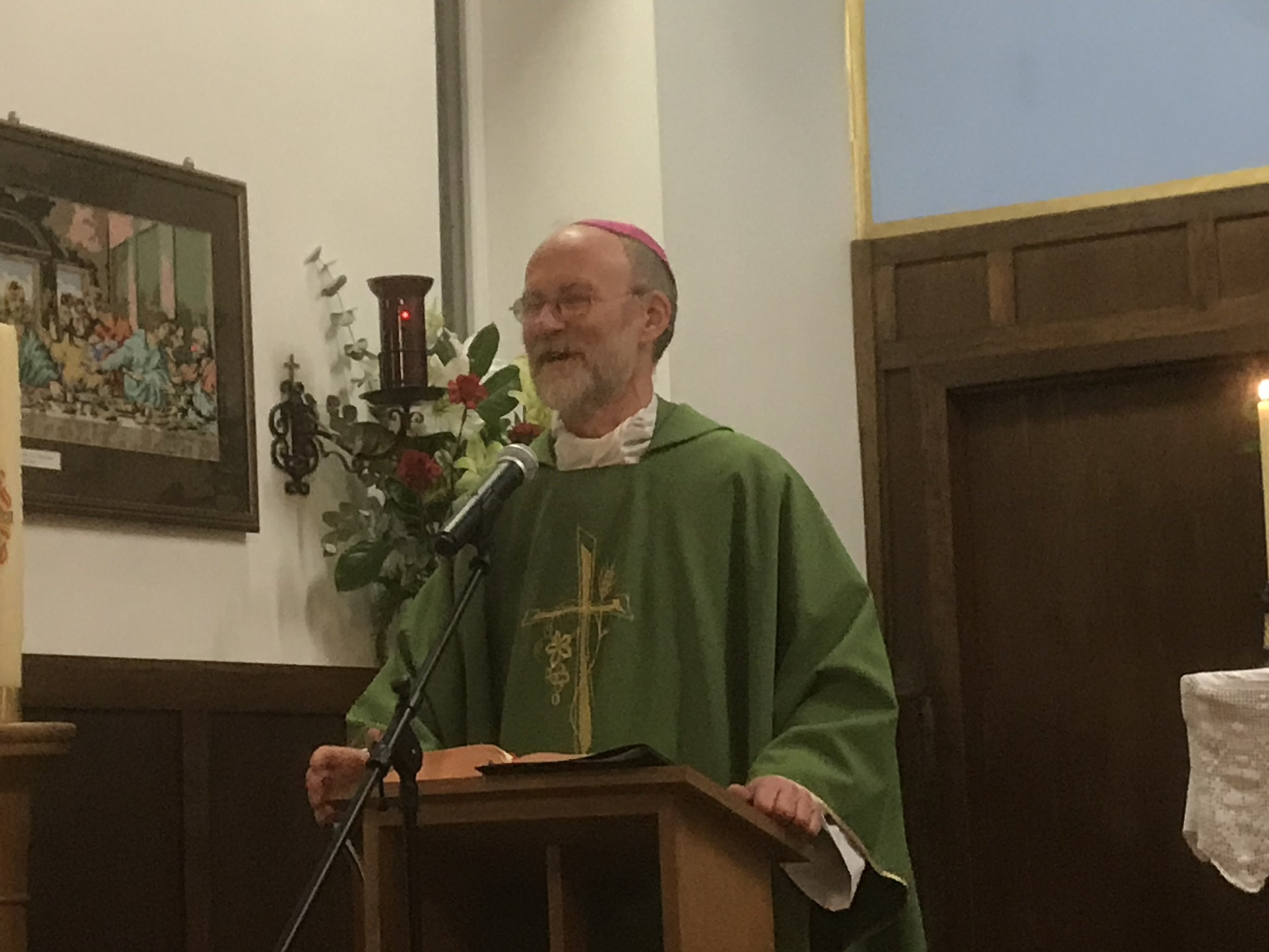 Bishop's visit to St Wulstan's 2019