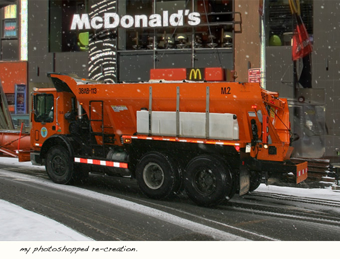 One NYC snow plow contains enough salt to season millions of Mcdonald's orders.
