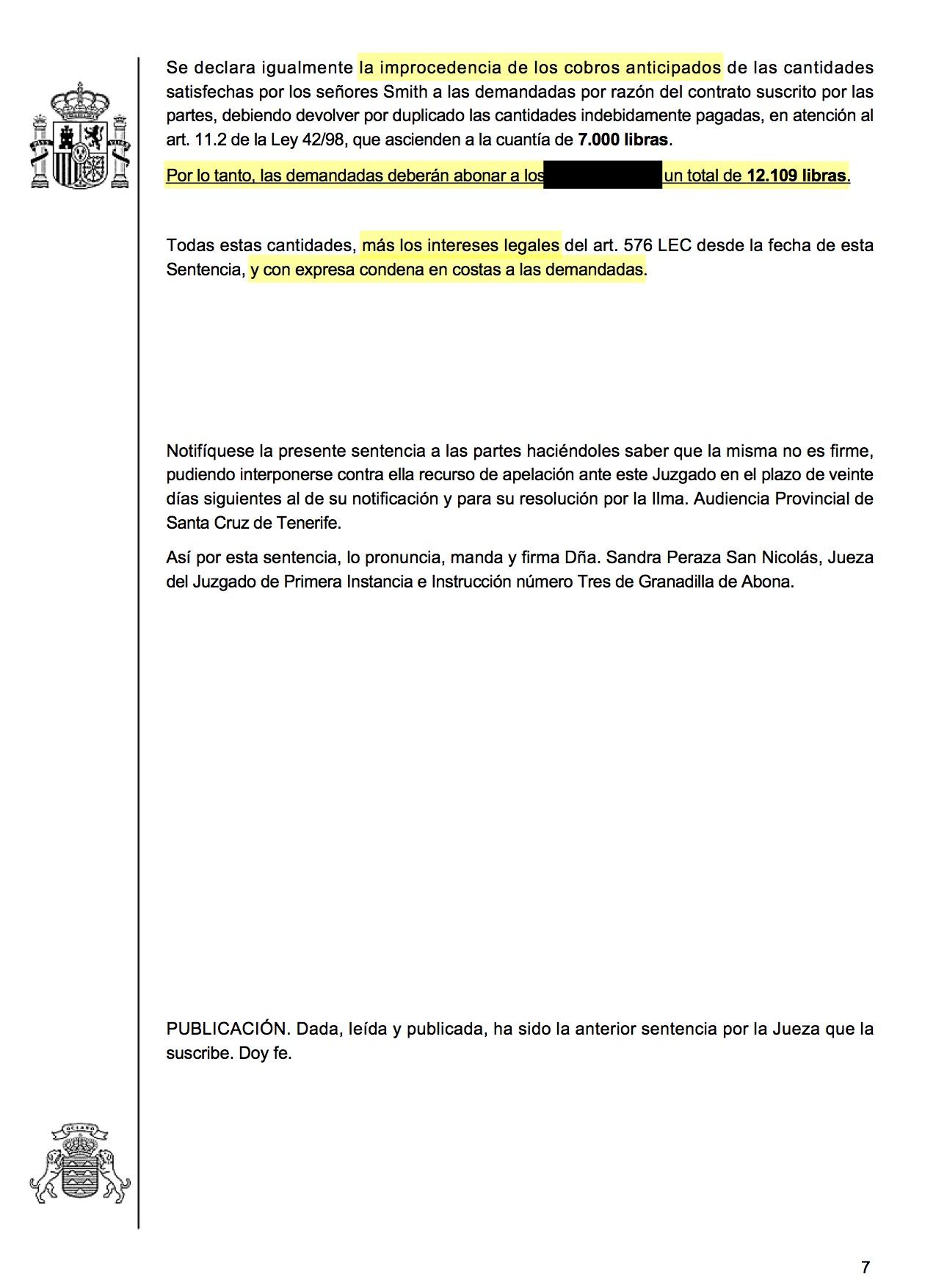 18-03-09 GOODWIN-SMITH. Sentencia de Primera Instancia. Granadilla3. Estimatoria integra, con efectos, anticipos y costas legales 3.jpg
