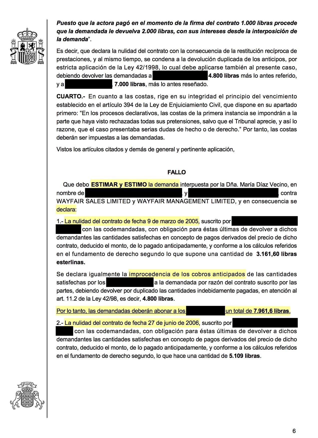 18-03-09 GOODWIN-SMITH. Sentencia de Primera Instancia. Granadilla3. Estimatoria integra, con efectos, anticipos y costas legales 2.jpg