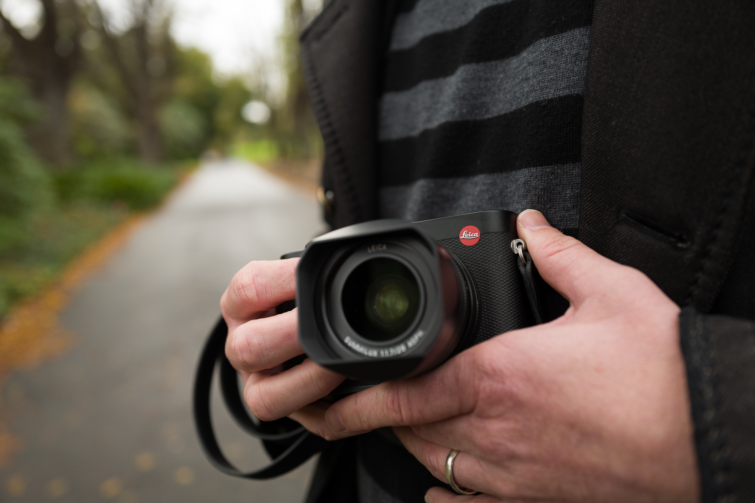 Jesse Marlow seen holding the Leica Q. Picture shot on the Leica Q at f/1.7