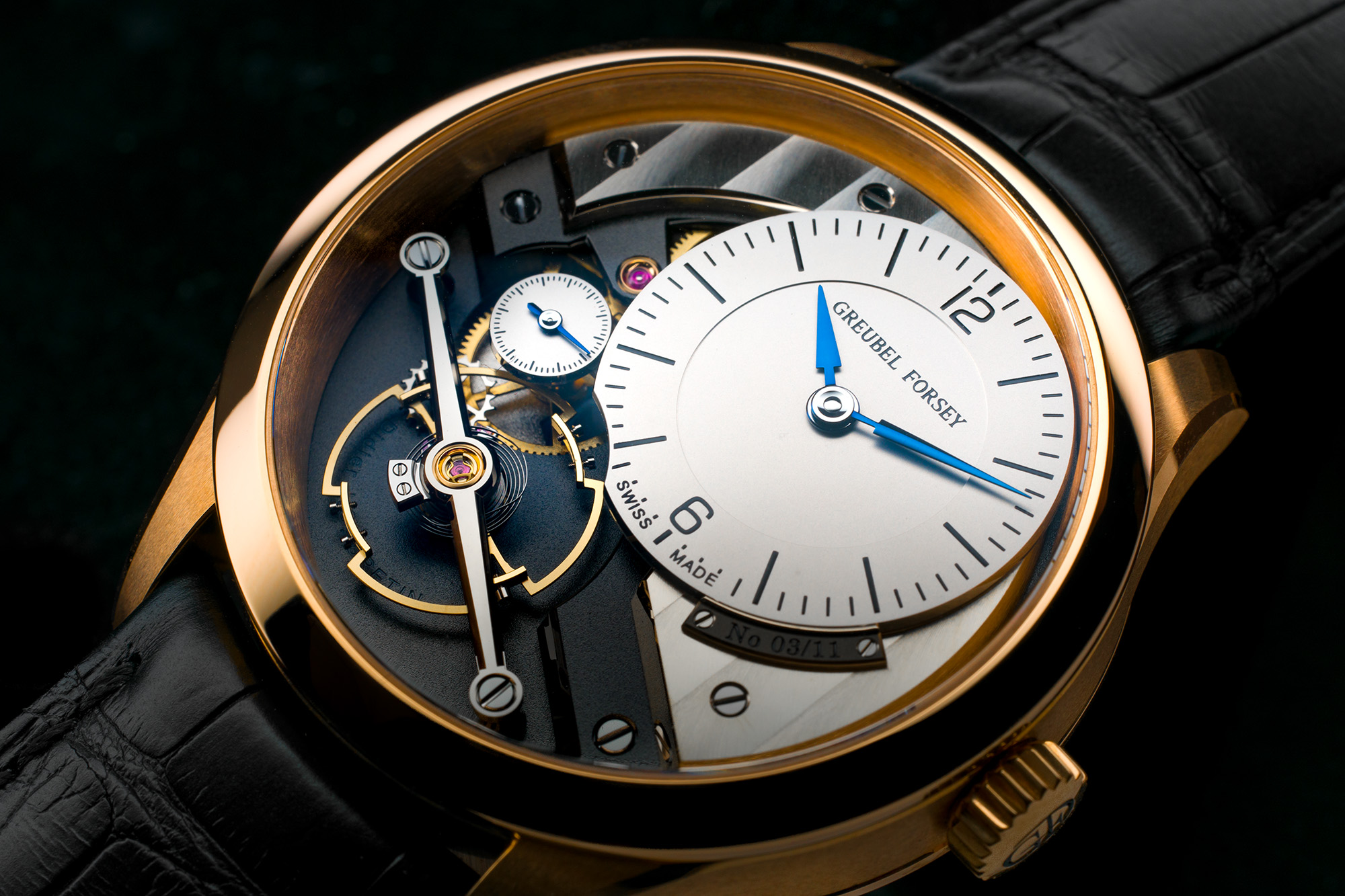Greubel Forsey Signature 1 timepiece. Shot on the TL2 with TL 60mm macro lens