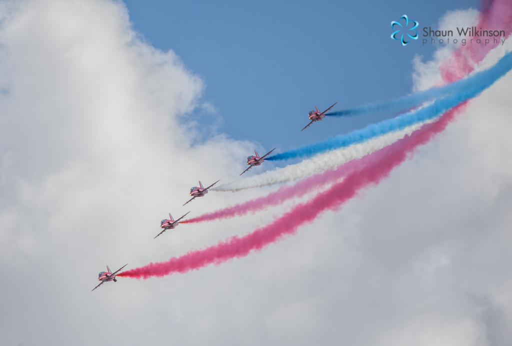 Red arrows at cleethorpes air show July 2013