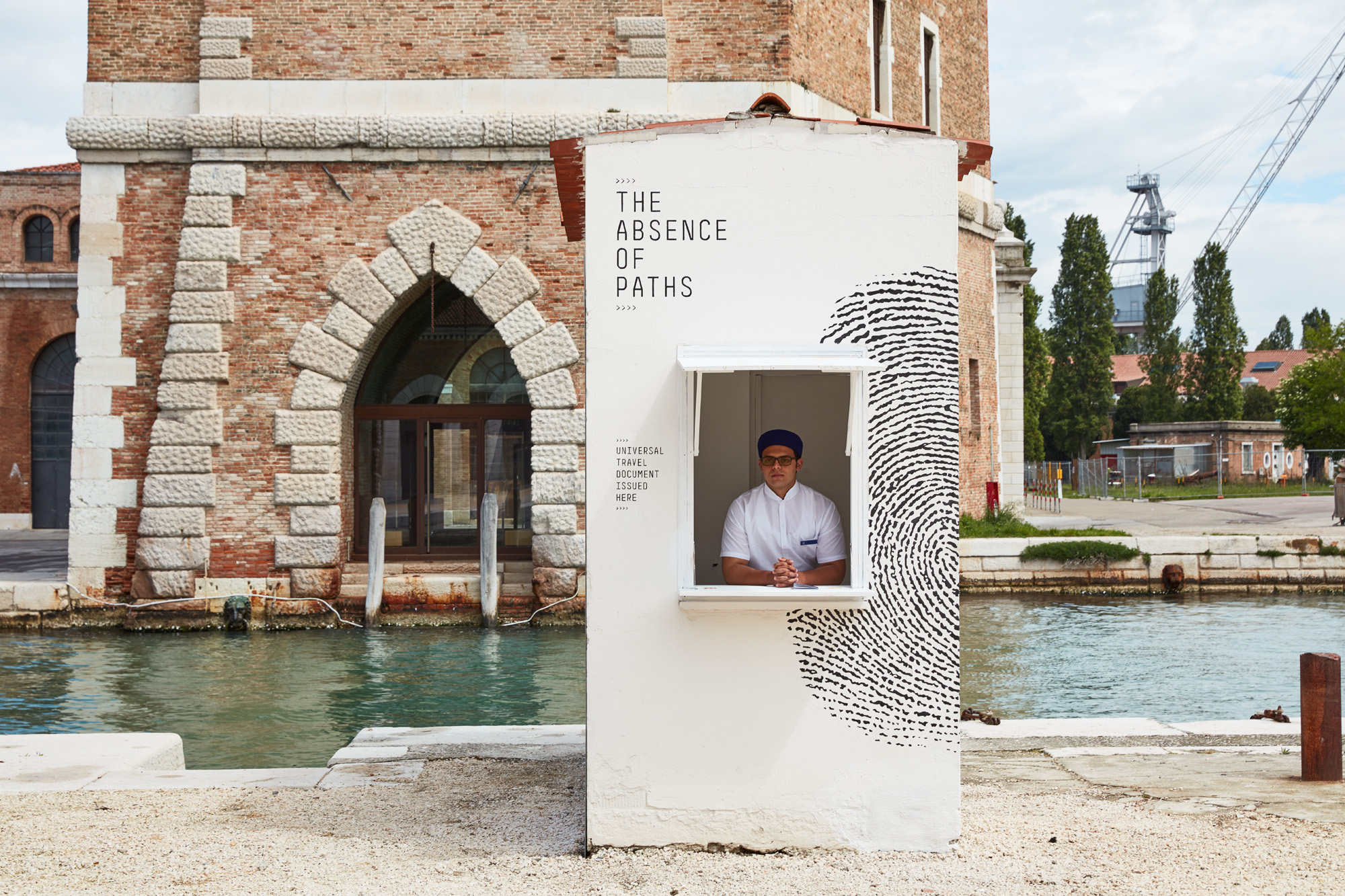 Installation view of The Tunisian Pavilion, The Absence of Paths at La Biennale di Venezia, photograph:Luke Walker