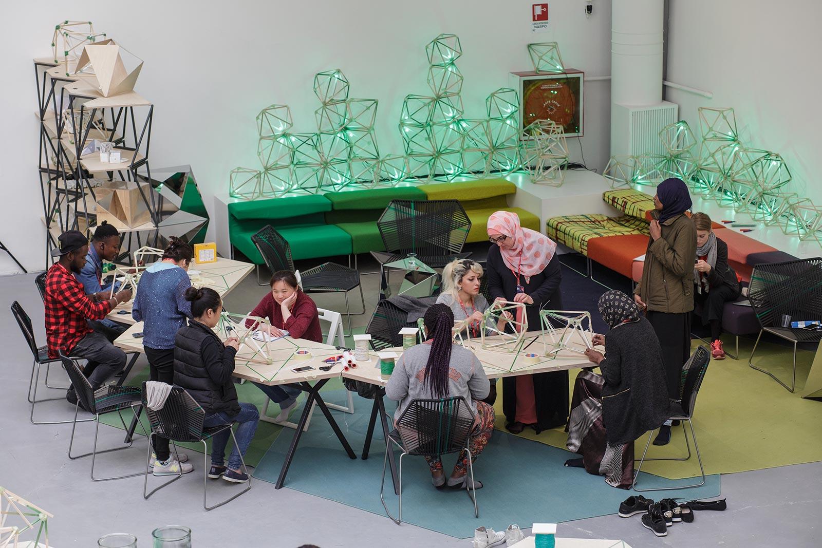 Olafur Eliasson,Green light - An artistic workshop, 2016. Photo Damir Zizic 2017