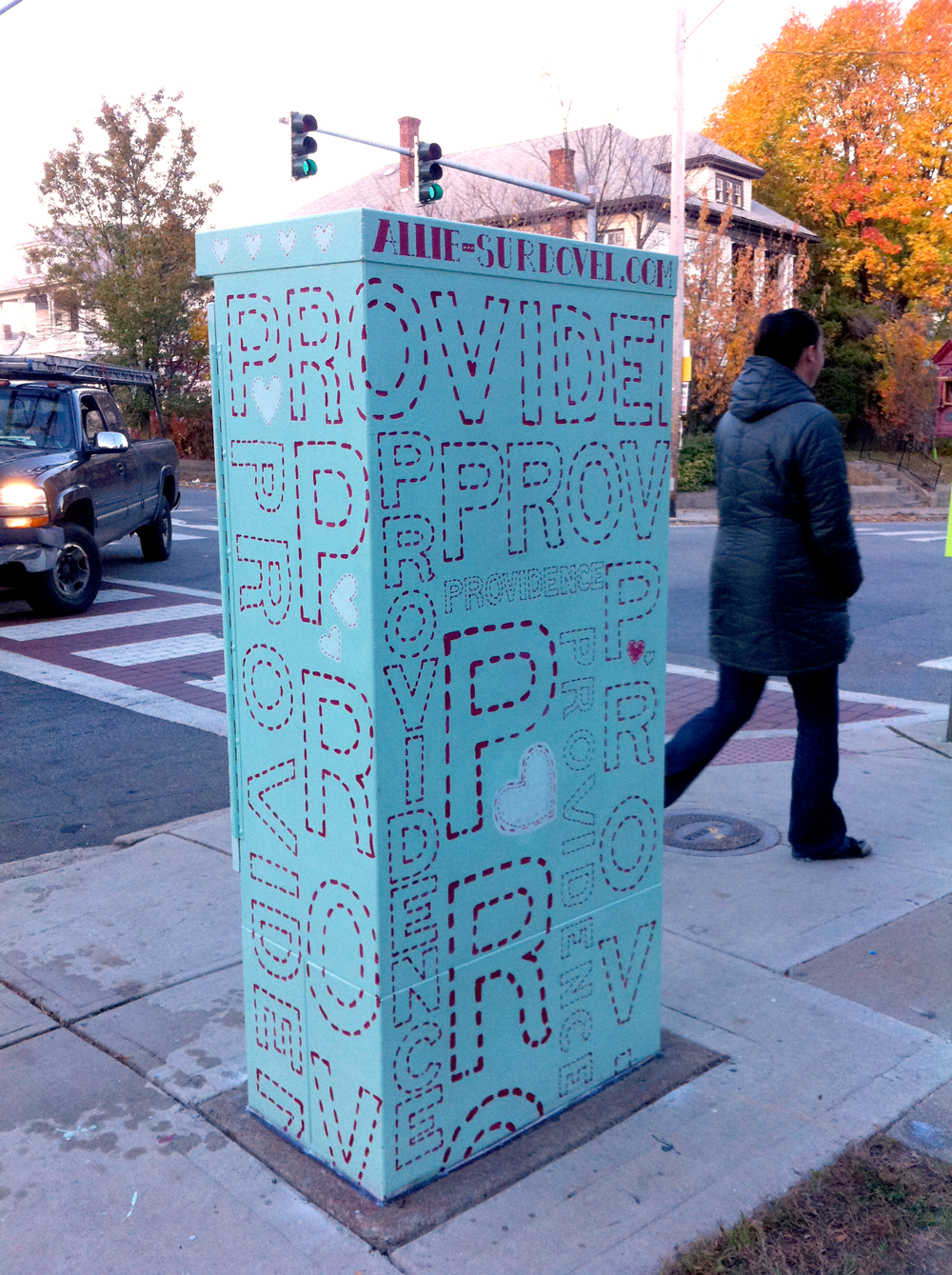 """""""Stitched Providence"""" Mt. Pleasant and Chalkstone Blvd. Transformer"""