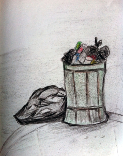 Trash and Can Drawing