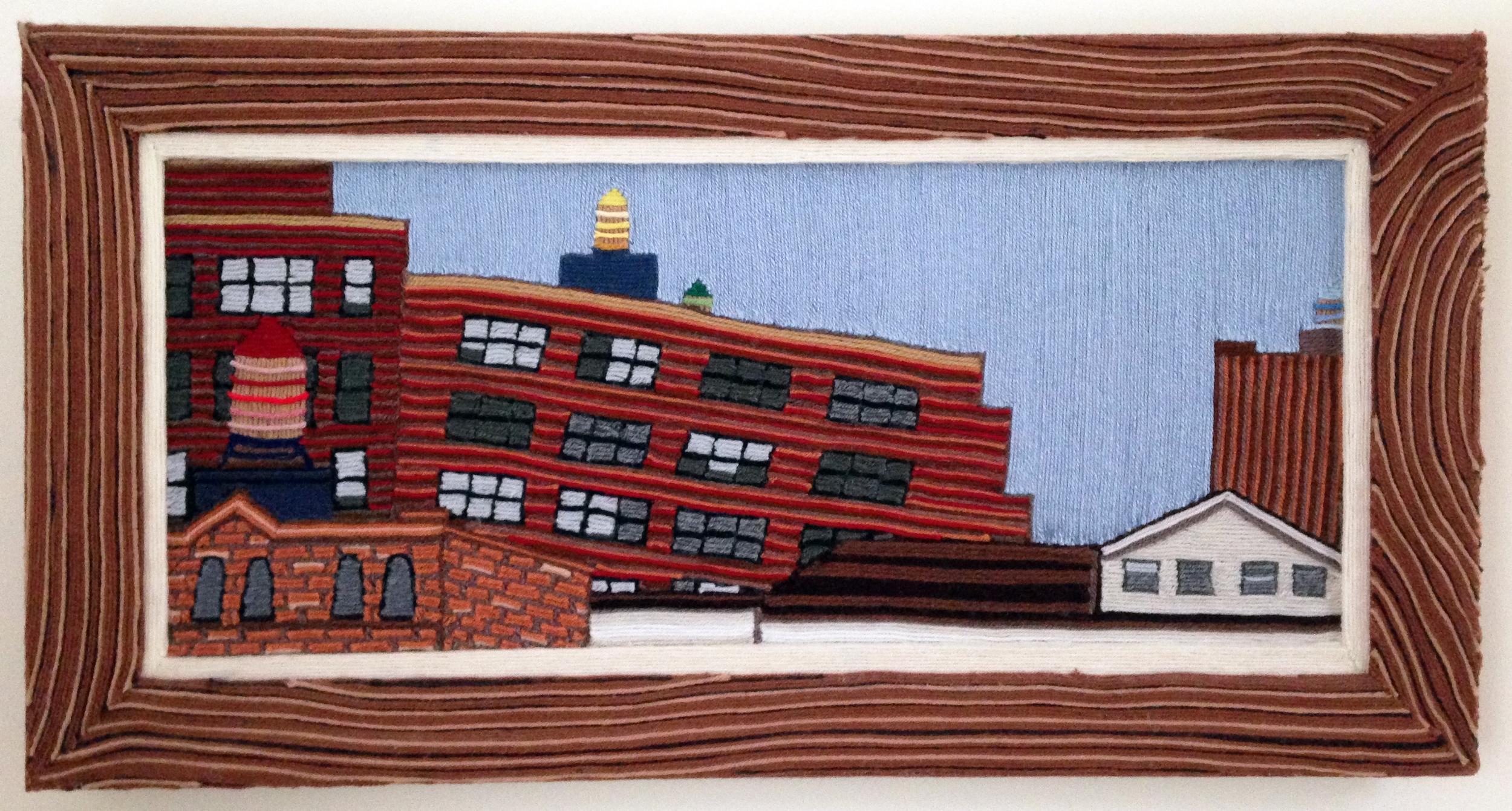 Yarn painting, 2001, yarn & wood, 30 x 24 inches