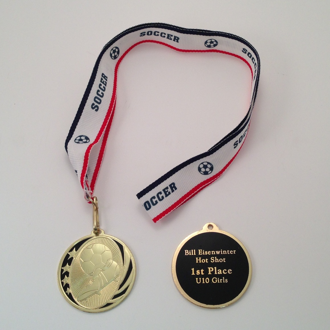 Medal with Ribbon -$6.89 each (includes tax & engraving). [ITEM#:  16F ]