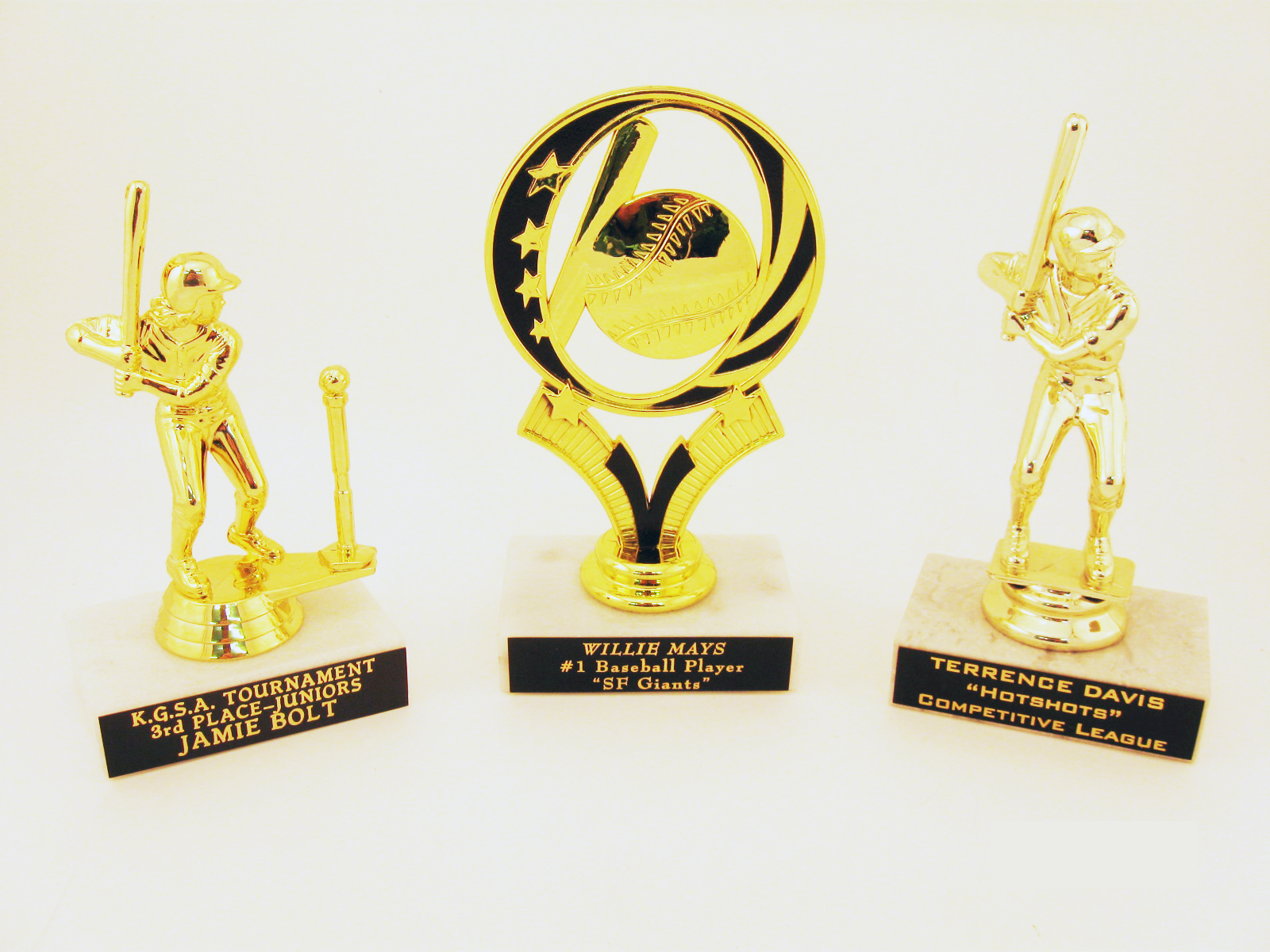 Baseball Players on Marble Base -  $5.30 each  (Includes tax & engraving) Specify Male or Female. [ITEM#:  16G ]