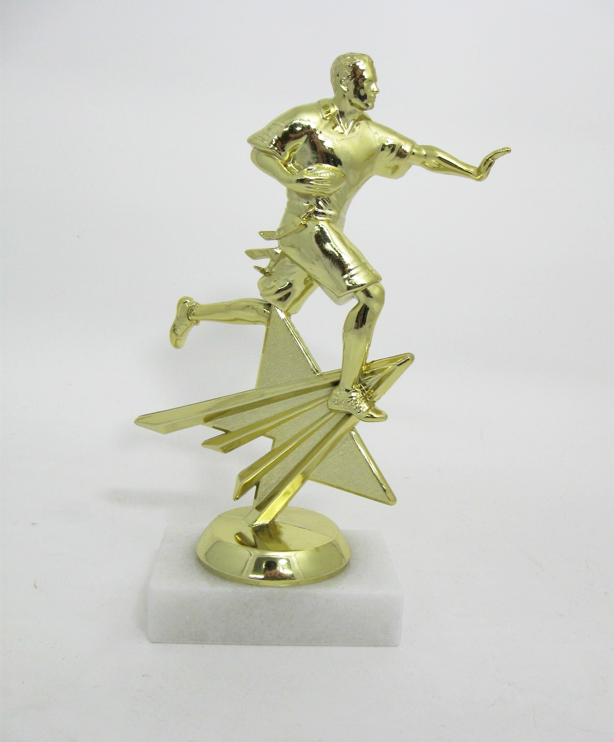 Football Figures on Marble Base -$7.16 each (Includes tax & engraving). [ITEM#:  16C ]