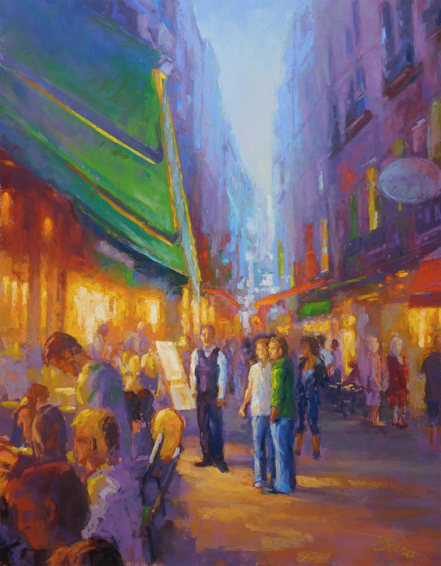 Evening Cafes: Dinner Time on a Venetian Street