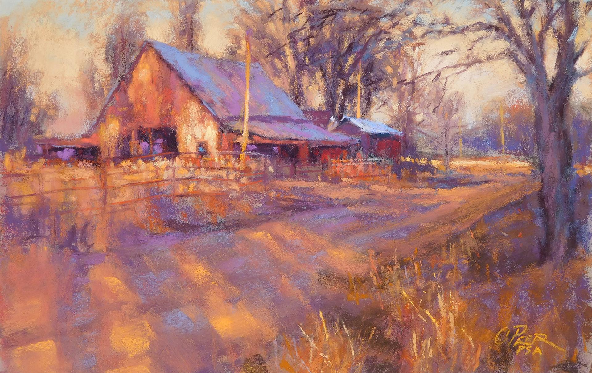 Wet Prairie Road - Winter
