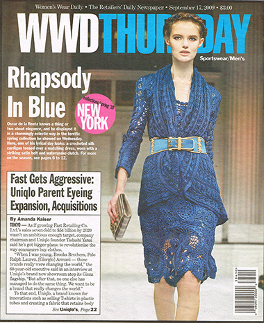 Vlad Knit for  Oscar de la Renta  in WWD