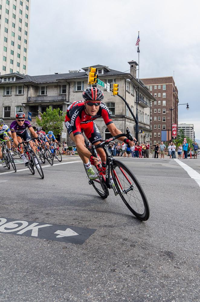 BMC rider leads the peloton