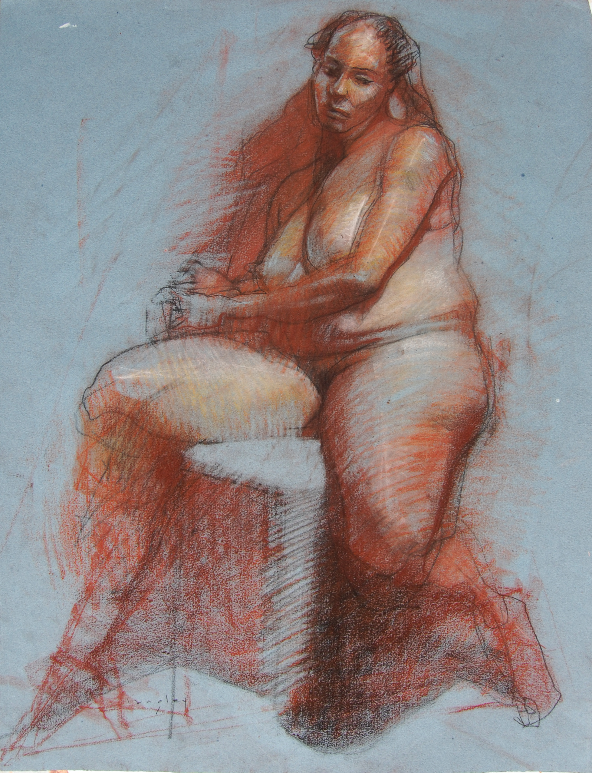 langley seated nude 24x18 conte 2016 africa.jpg