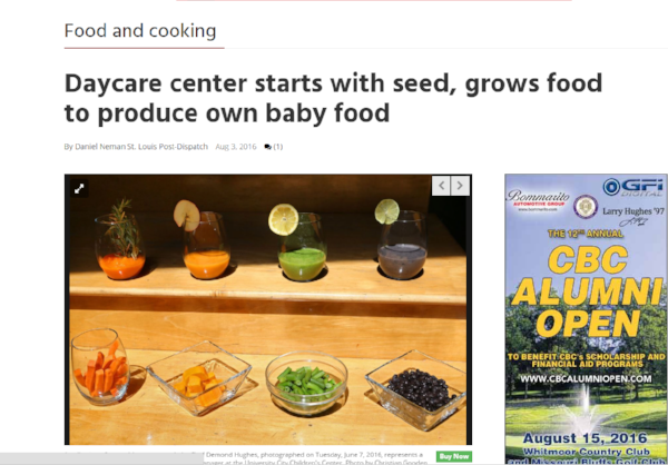 STL Today-Daycare center starts with seed, grows food to produce own baby food
