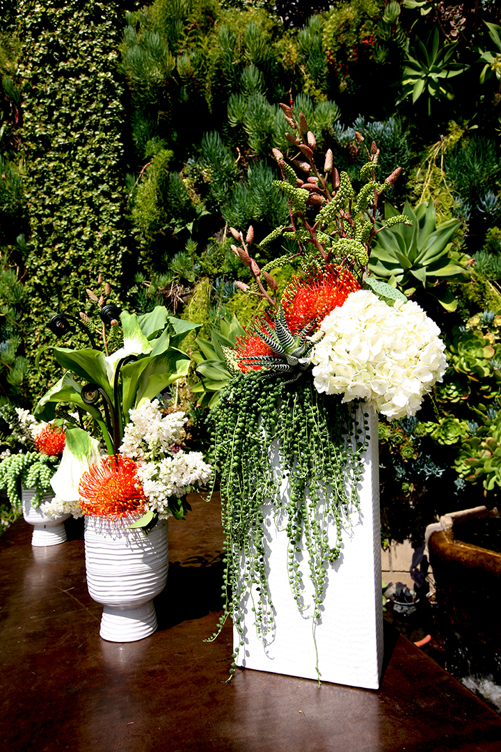 All of the flowers for Love Catering's 6th Anniversary Party was provided by  Gilly Flowers