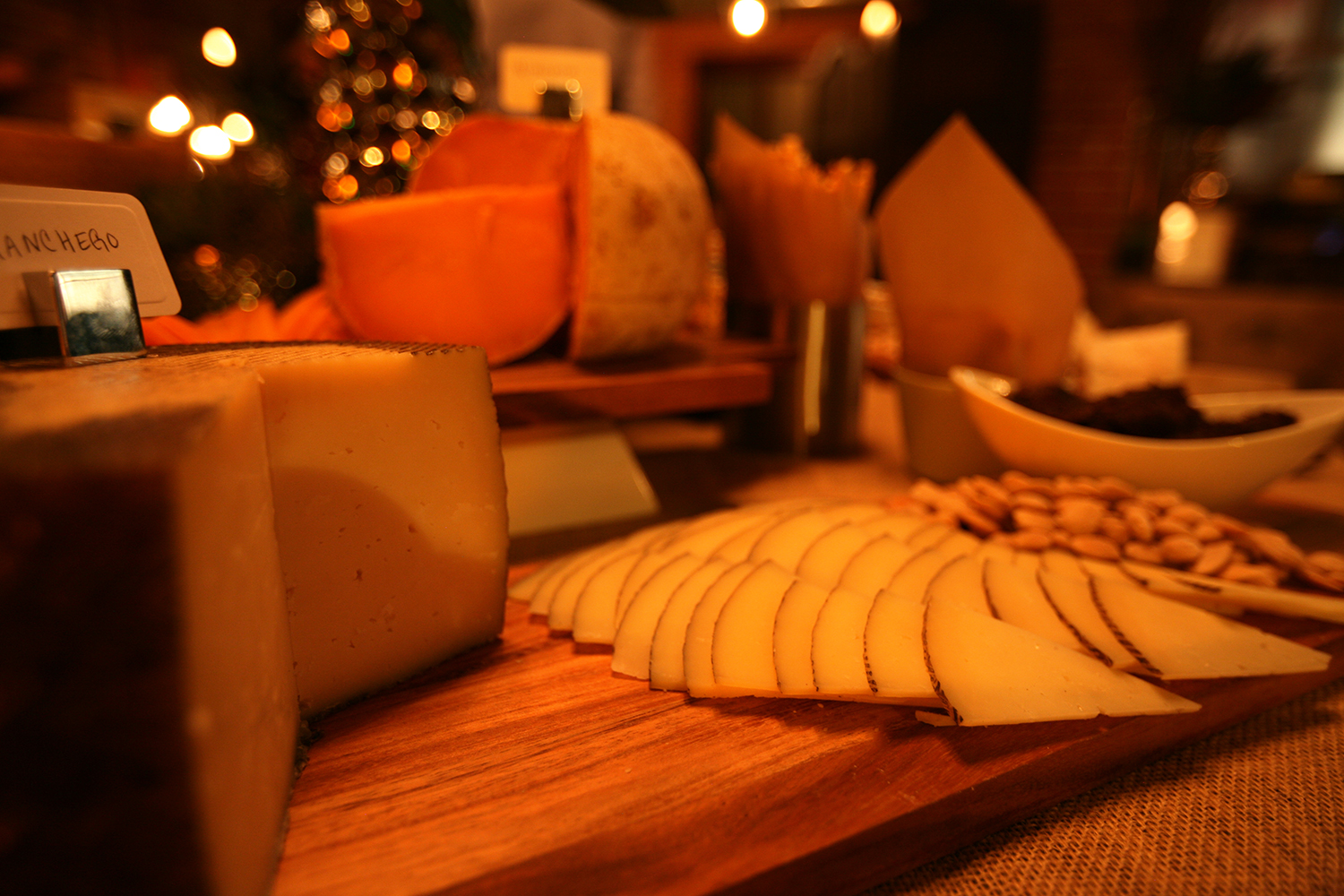 Grand cheese display