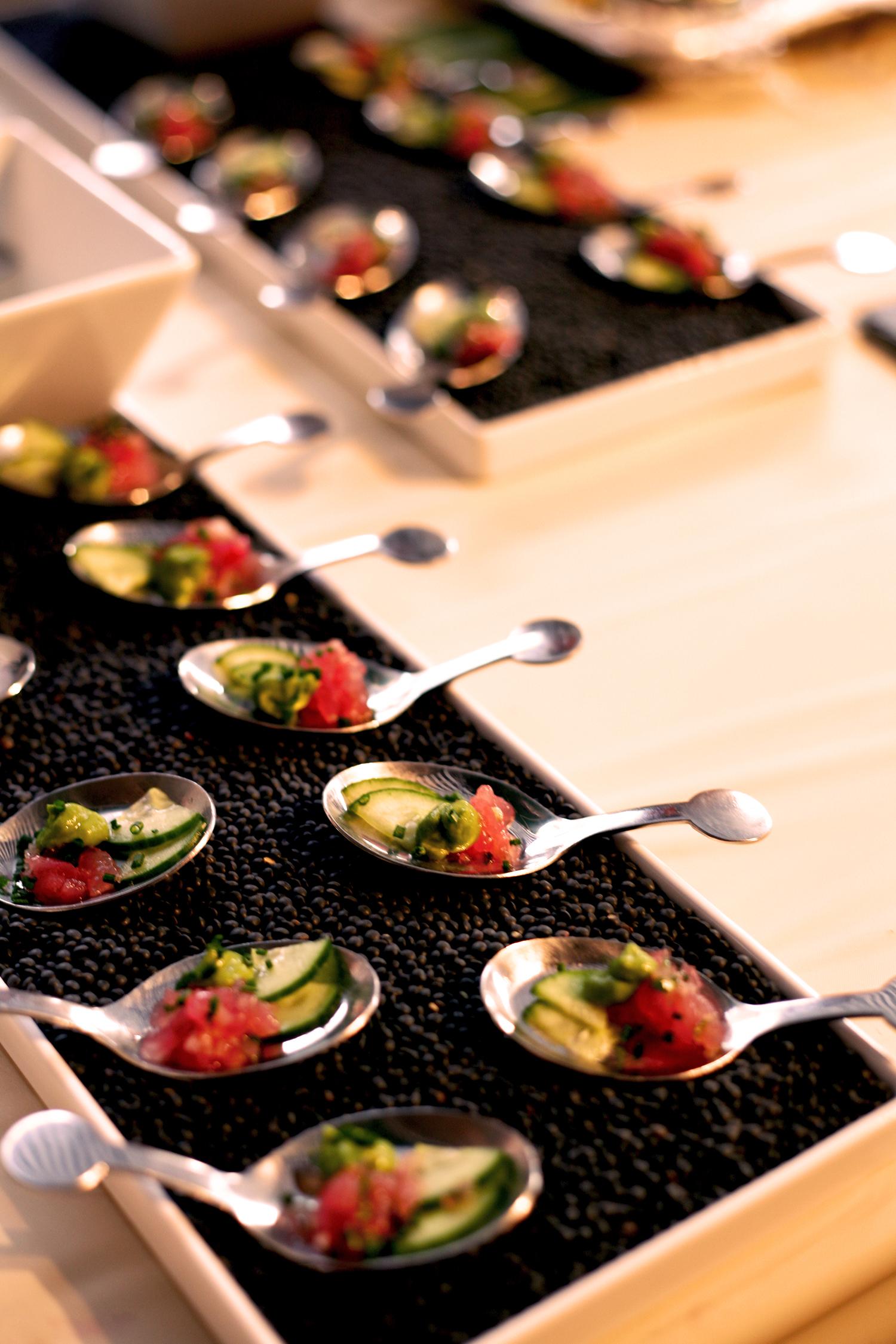 Tuna tartare, Persian cucumber, avocado, jalapeno, yuzu