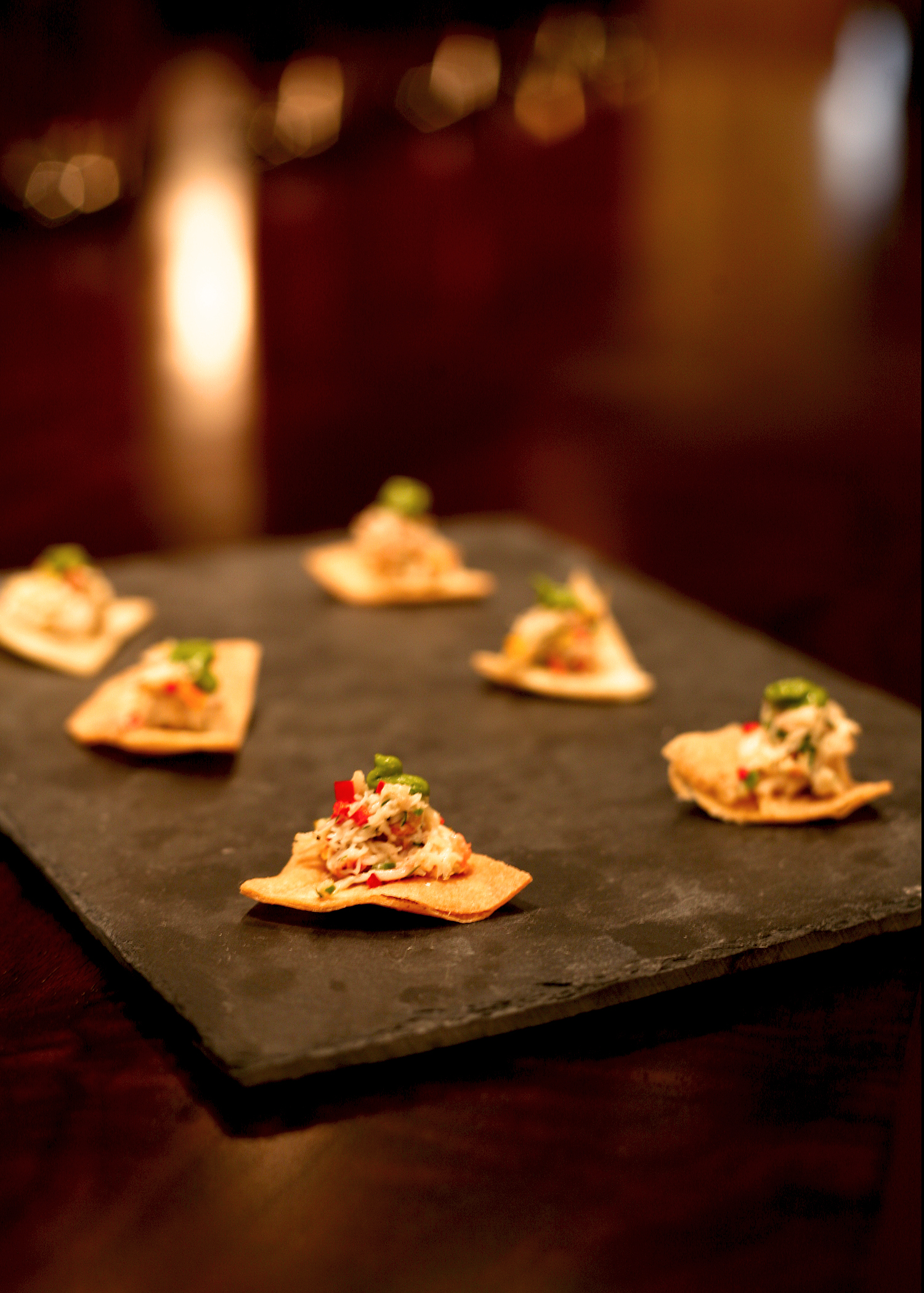 Dungeness crab, avocado mousse, house made tortilla