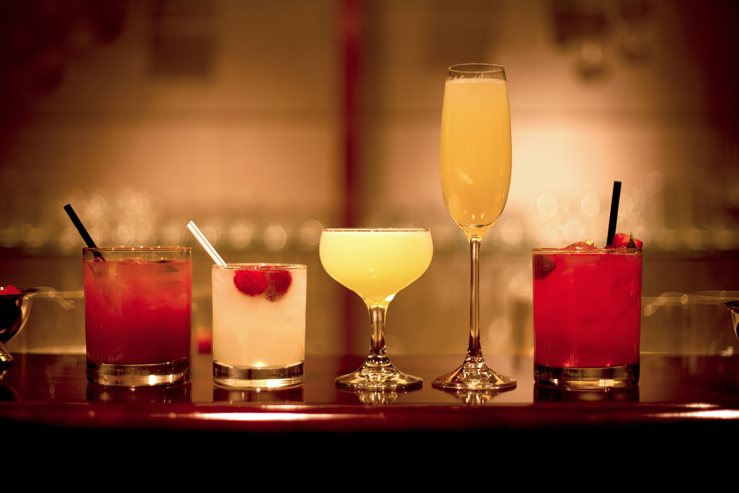 The Gatsby, The Daisy, The Red Berry Mint Julep, Raspberry Gin Rickey, Nick Carraway
