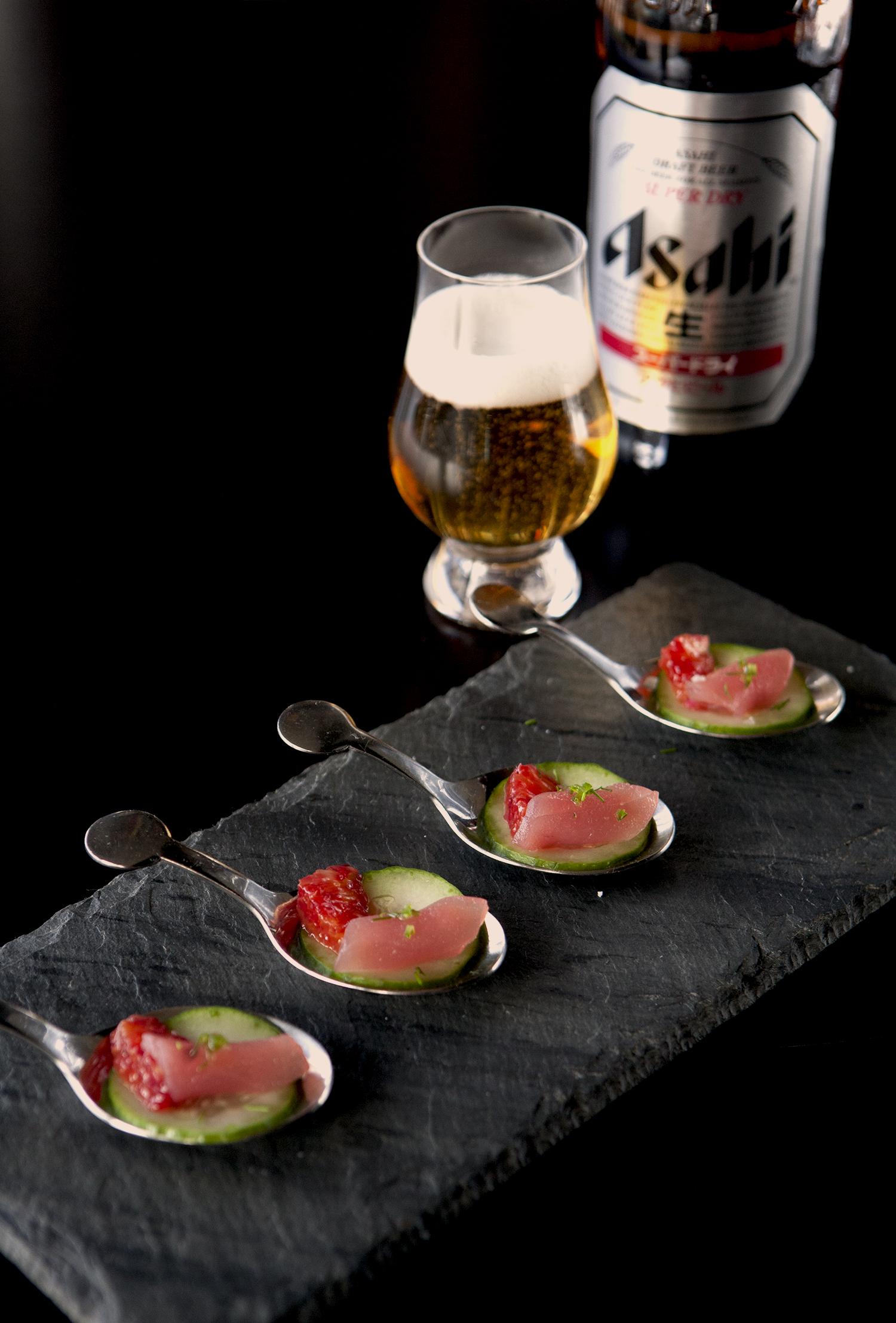 Tuna Tartare, Blood Orange, Cucumber, Yuzu