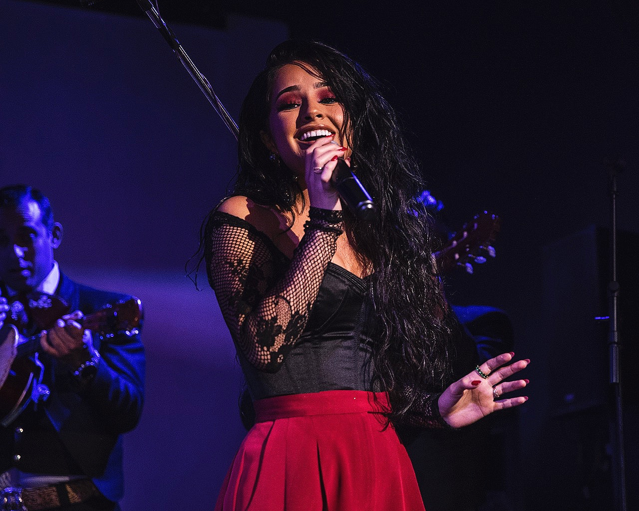 Becky G performing