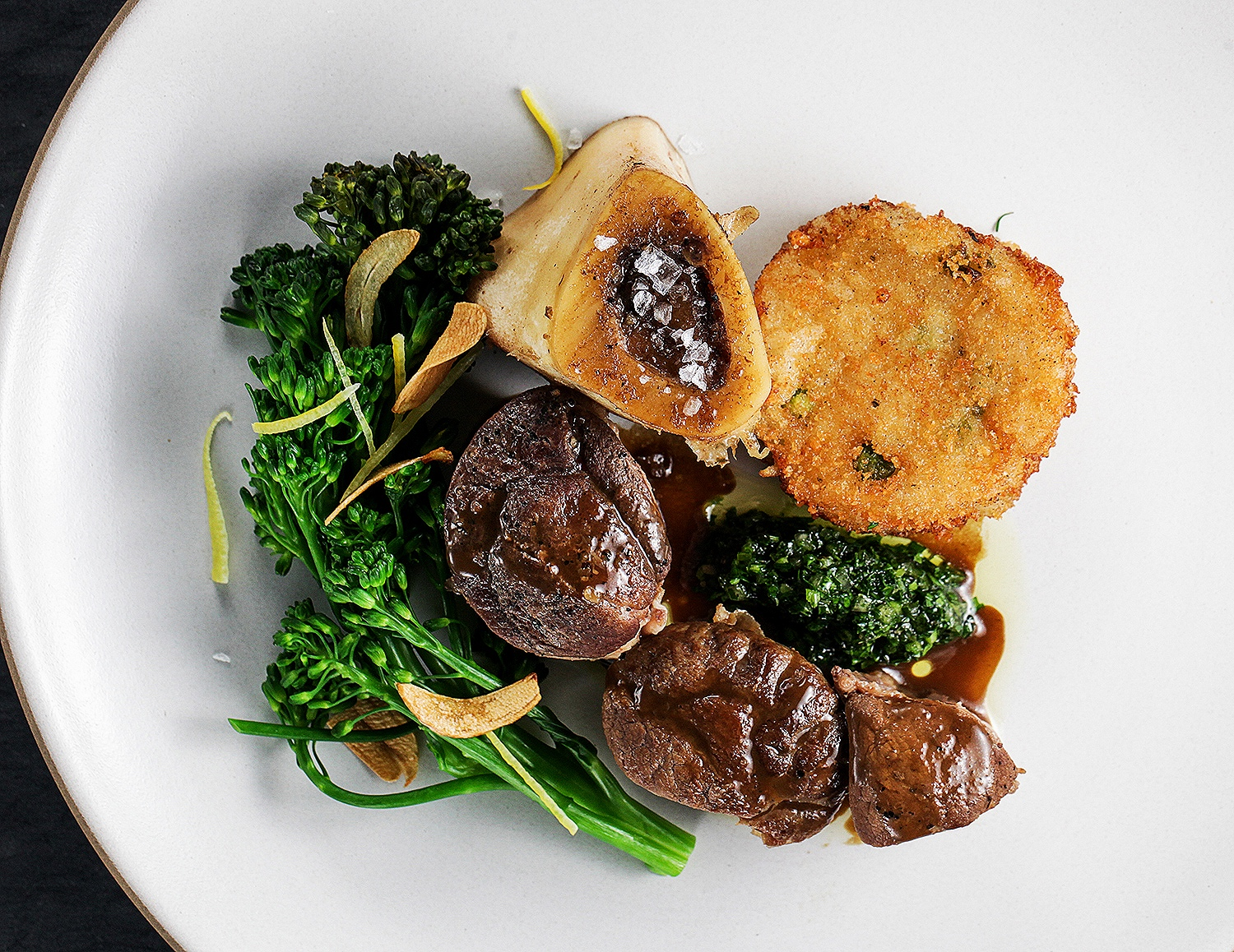 Osso bucco with broccolini