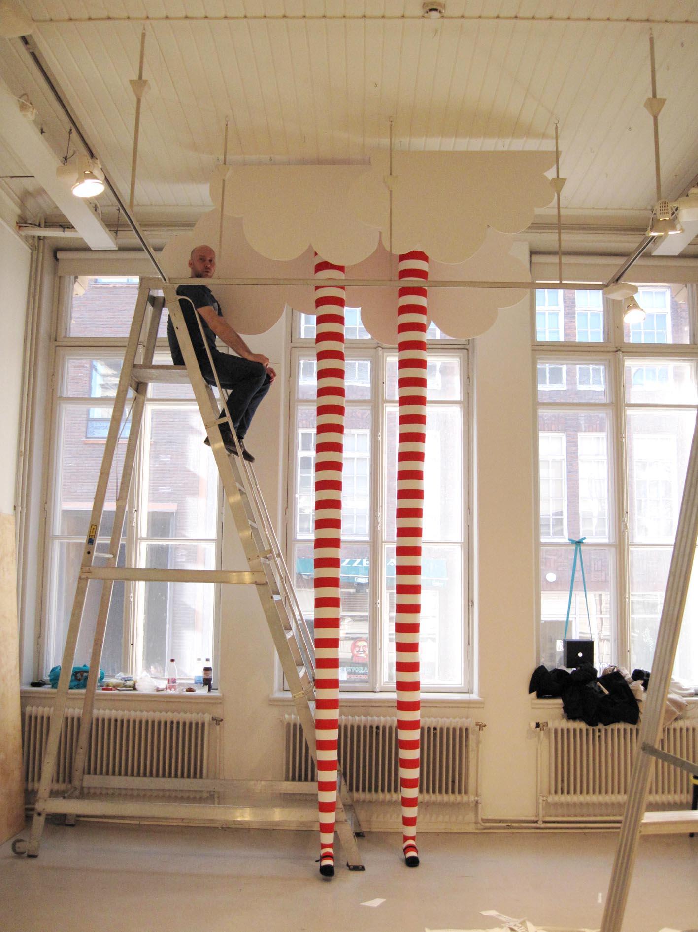 Sylvi's long legs for Annantalo exhibition 2009.