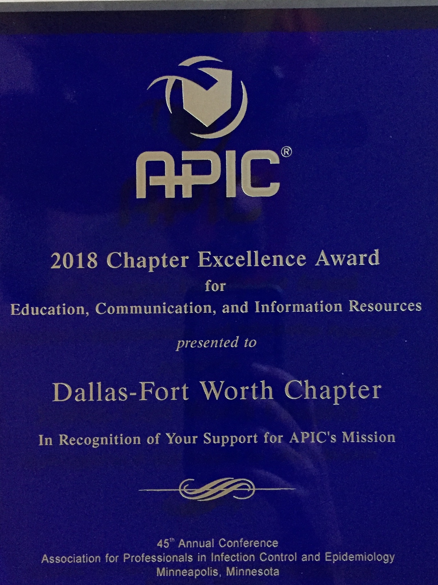 2018 APIC-DFW Chapter Excellence Award.jpg