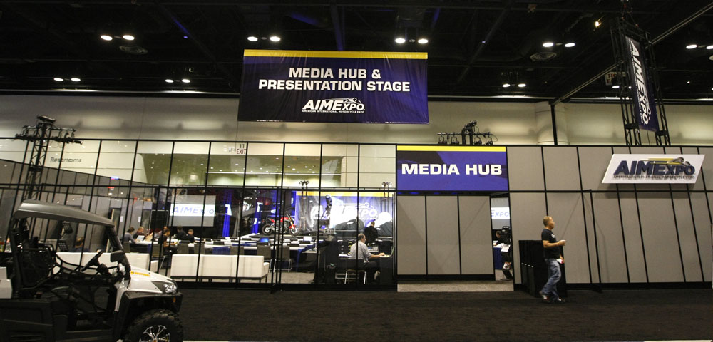 Next Level developed the innovative and state-of-the-art AIMExpo Media Hub, which served as the site of multiple product unveilings and the home base for hundreds of credentialed media. The one-of-a-kind setup welcomed members of the media attending from around the globe who were able to take full advantage of all the amenities the Media Hub had to offer.