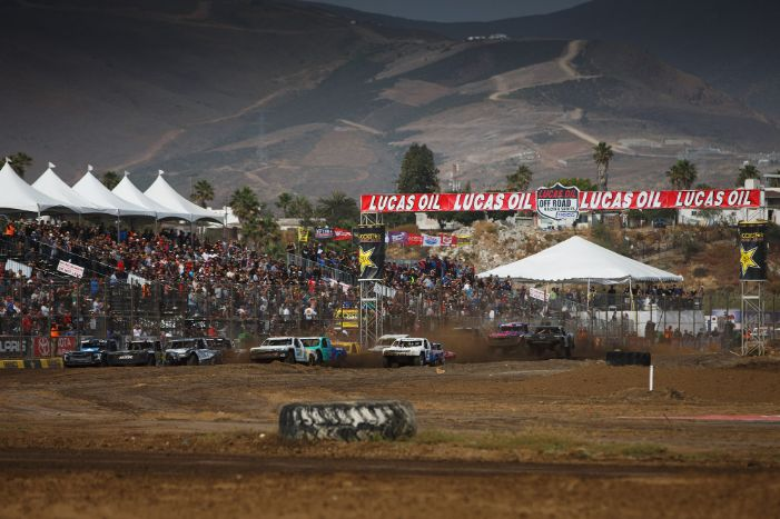 The grandstands were packed all weekend at Estero Beach Resort Courtesy Lucas Oil Off Road Racing Series