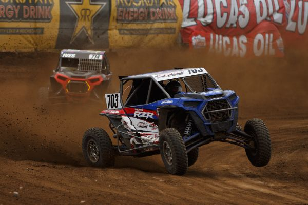 Trevor Leighton came on strong late to take Sunday's Turbo UTV win Courtesy Lucas Oil Off Road Racing Series