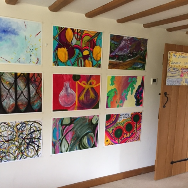 Dynamic paintings in the domestic gallery aka my cottage